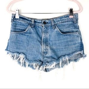 VINTAGE LEVI'S Orange Tag Cut Off Jean Shorts